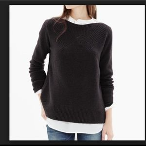 Madewell Assembly Pullover Ribbed Sweater black S